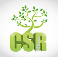 Csr corporate social responsibility tree illustration design over a white background Royalty Free Stock Images
