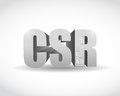Csr d sign illustration design over a white background Stock Photo