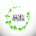 Csr natural sign illustration design over a white background Stock Image