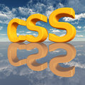 Css – cascading style sheets computer generated d illustration with the letters Stock Photos