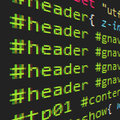 CSS and HTML code Stock Images