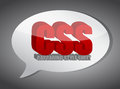 Css speech bubble illustration design over white Royalty Free Stock Photo