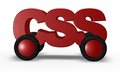 Css on wheels Royalty Free Stock Images