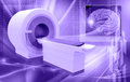 Ct scan machine in colour background Stock Photos
