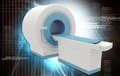Ct scan machine digital illustration of in colour background Royalty Free Stock Photo