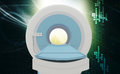 Ct scan machine digital illustration of in colour background Royalty Free Stock Photography