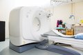 Ct scan machine in examination room at hospital Stock Photo