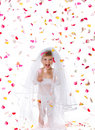 Ctue little girl in a  veil Royalty Free Stock Image