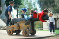 Cub Scouts playing Royalty Free Stock Images