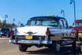 Cuba american oldtimer taxi on the promenade park Royalty Free Stock Image