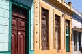 Cuba architecture matanzas city decorative colorful colonial Stock Photos