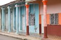 Cuba architecture moron old town colonial colorful residential building Stock Photos