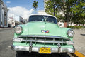 Cuba car cienfuegos may a typical old style american that tourists can find going to visit in other nations these cars are Stock Images