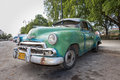 Cuba car havana may a typical old style american that tourists can find going to visit in other nations these cars are for Royalty Free Stock Image