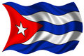 Cuba flag isolated Royalty Free Stock Images