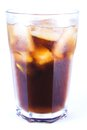 Cuba libre alcoholic drink coke ice non alcoholic drink white background Royalty Free Stock Photos