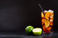 Cuba Libre cocktail with rum, cola and lime Royalty Free Stock Photo
