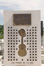 Cuba music compay segundo grave monument at the santa ifigenia cemetery santiago de compay segundo was a cuban trova guitarist Royalty Free Stock Photography