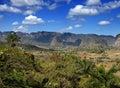 Cuba naturaleza tropical de vinales valley landscape en un día soleado Fotografía de archivo libre de regalías