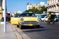Cuba taxi on the main street in Havana 2 Royalty Free Stock Photo