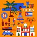 Cuba travel illustration