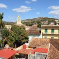Cuba trinidad colonial town cityscape unesco world heritage site square composition Stock Photos