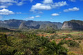 Cuba tropical nature of vinales valley in a sunny day Royalty Free Stock Photo