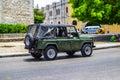 Cubaanse auto s de foto s van uitstekende amerikaanse en sovjetauto s maakten in de straten van havana Royalty-vrije Stock Fotografie