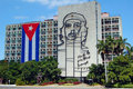 Cuban Flag and Che Guevara Royalty Free Stock Photography