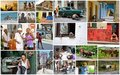 Cuban People Collage Stock Images