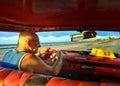 Cuban taxi driver Royalty Free Stock Photo
