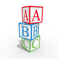 Cube ABC Royalty Free Stock Photography
