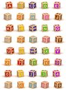 Cube Alphabet Royalty Free Stock Photos