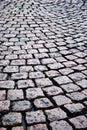 Cube block stones of sett paving rough texture granite pavement Stock Photos