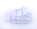 Cube of blue ice  on a white background Royalty Free Stock Photo