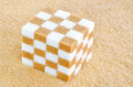 Cube Of Brown And White Sugar ...