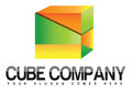 Cube company logo creative d suitable for industries like games gaming apps software Stock Images