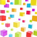 Cube composition over white background as abstract backdrop Royalty Free Stock Images