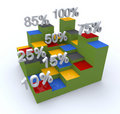Cube graph Royalty Free Stock Photo