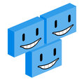 Cube happy face Royalty Free Stock Photos