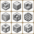 Cube icons set vol Royalty Free Stock Image
