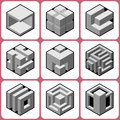 Cube icons set vol Royalty Free Stock Images