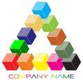 Cube logo Stock Photography