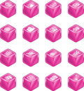 Cube Media Icon Series Set Stock Image