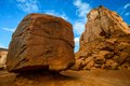 The Cube in Monument Valley Stock Photography