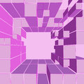 Cube pink shaded frame composition illustration Stock Photo