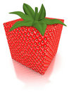 Cube shaped strawberry Stock Photo