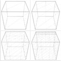 Cube from the simple to the complicated shape vector isolated Royalty Free Stock Images