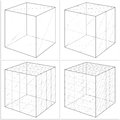 Cube from the simple to the complicated shape vector isolated Stock Photos