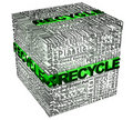 Cube words with recicle word in green Royalty Free Stock Photo